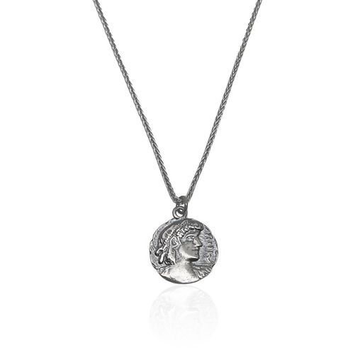 Silver Necklace Ancient Greek Coin