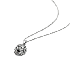 Silver Necklace Lion Head - CoolMenClub UK