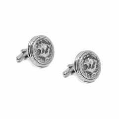 Ancient Greek Ship Coin Cufflink