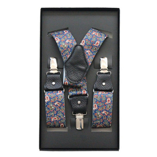 Button Braces Paisley Paisley Blue Colorful