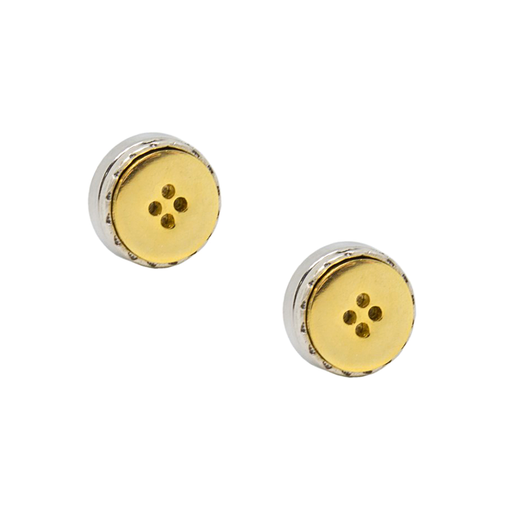 Gold Color Button Design Button Cover Cufflink