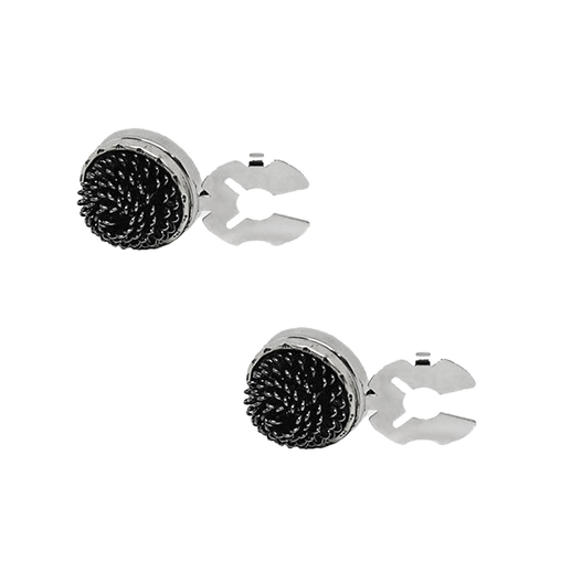 Black Fresco Button Cover Cufflink
