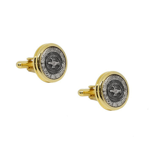Gold Color Figured Cufflink