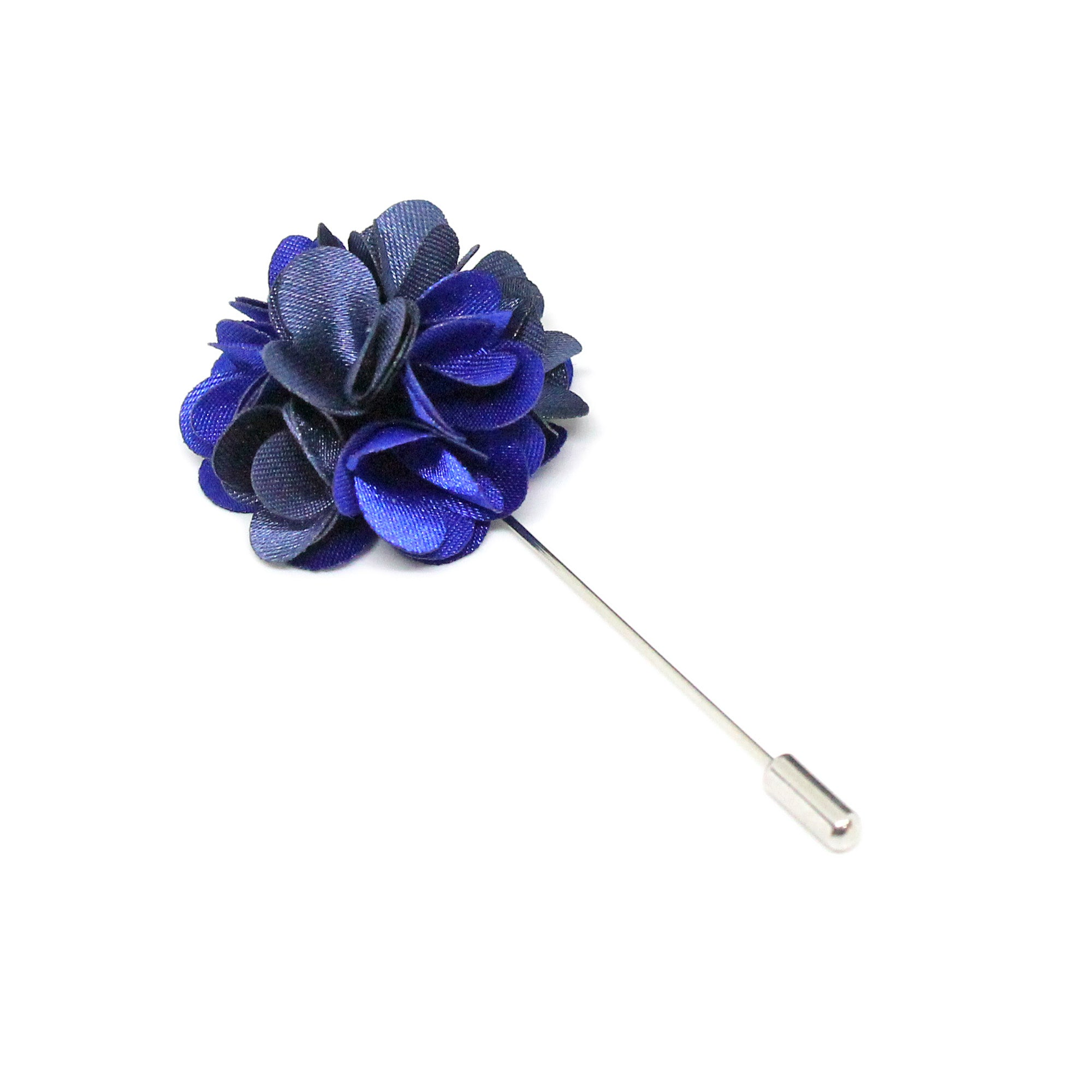 Navy and Blue Flower Brooch Lapel Pin