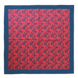 Cotton Neckerchief Red and Blue Paisley Design