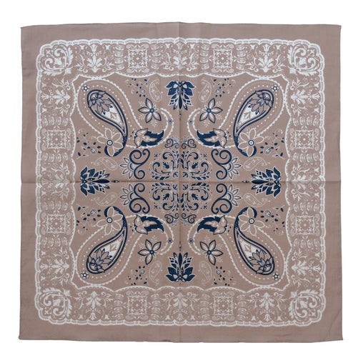 Cotton Neckerchief Copper Rose Paisley Design