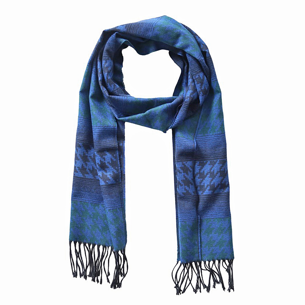 Scarf Geometric Pattern Blue - CoolMenClub UK
