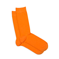 Socks Orange Plain Color
