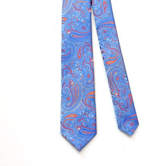 Tie Light Blue Paisley