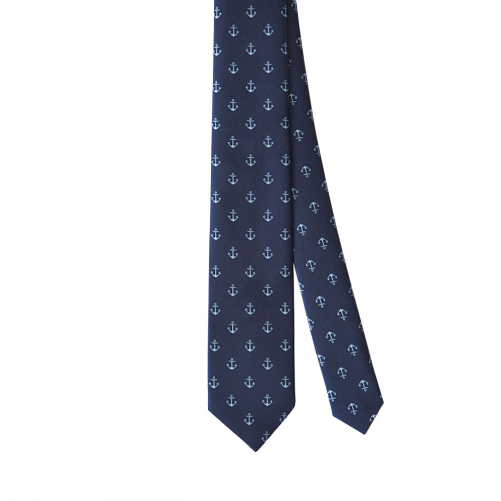 Tie Navy Blue Anchor - CoolMenClub UK