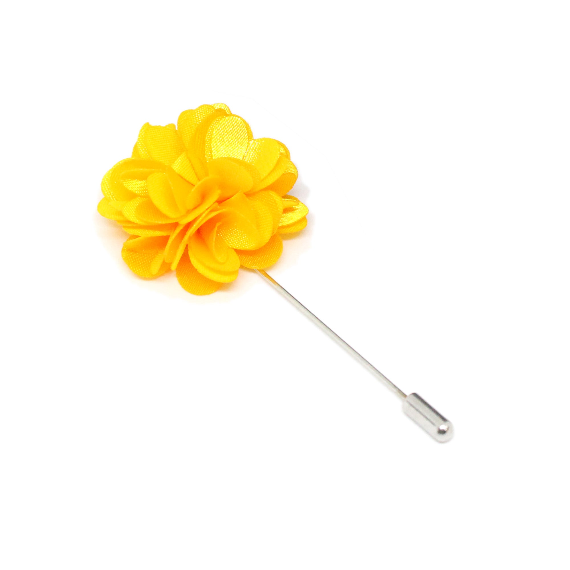 Yellow Color Flower Brooch Lapel Pin