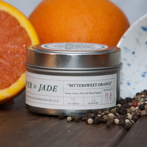 3.5oz Bittersweet Orange candle from Juniper and Jade Co.