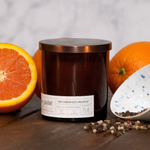8oz Bittersweet Orange candle from Juniper and Jade Co.