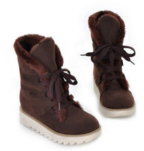 Load image into Gallery viewer, 2019  New Cute Lace Up Style Warm Suede Snow Boots - Brows Forever