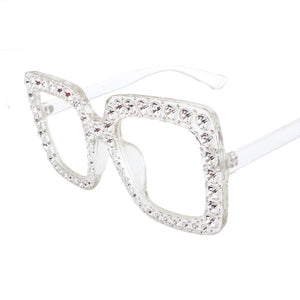 ROYAL GIRL Square Rhinestone Sunglasses Women - Brows Forever