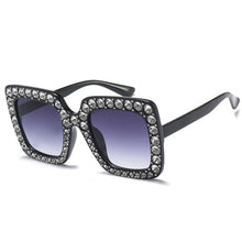 Load image into Gallery viewer, ROYAL GIRL Square Rhinestone Sunglasses Women - Brows Forever