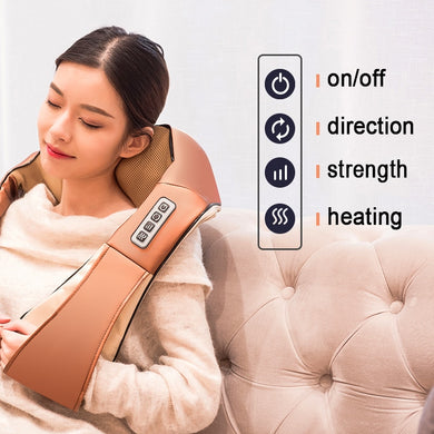 Shiatsu Neck and Shoulder Massager with Heat Hands Free Belt Deep Kneading Massagers for Neck and Shoulder Back Massage to Relieve Pain - Brows Forever