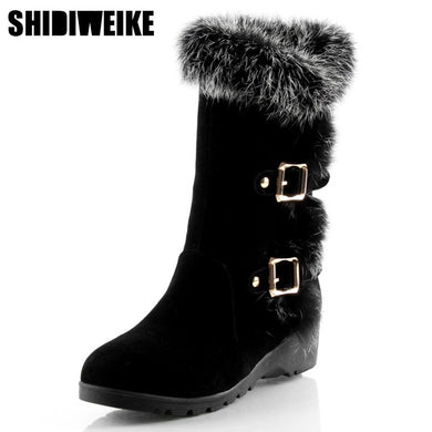 2019 New Hot Mid-Calf Suede Womens Snow Boots - Brows Forever