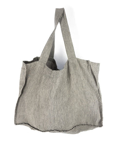 Stripes linen bag