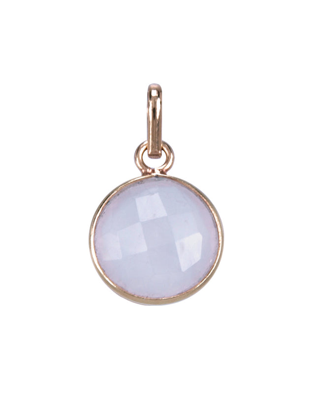 Rose quartz round pendant