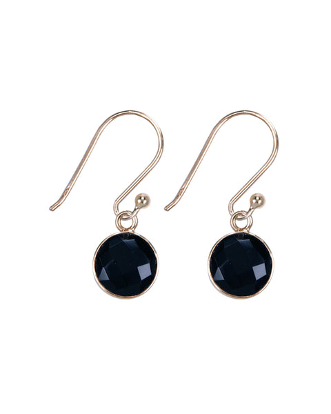 Onyx round earrings