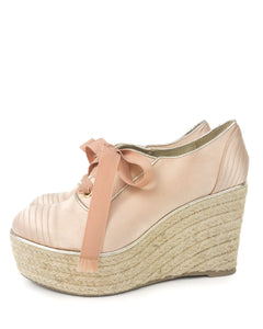 Pink Satin Shoes - size 37