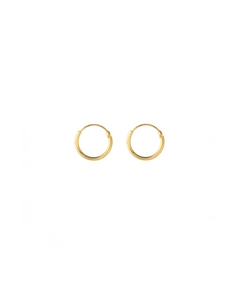 Gold plated earrings - 8 mm