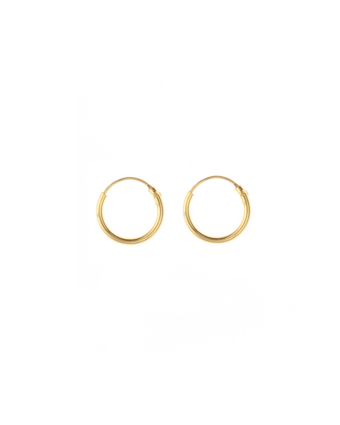 Gold plated earrings - 10 mm