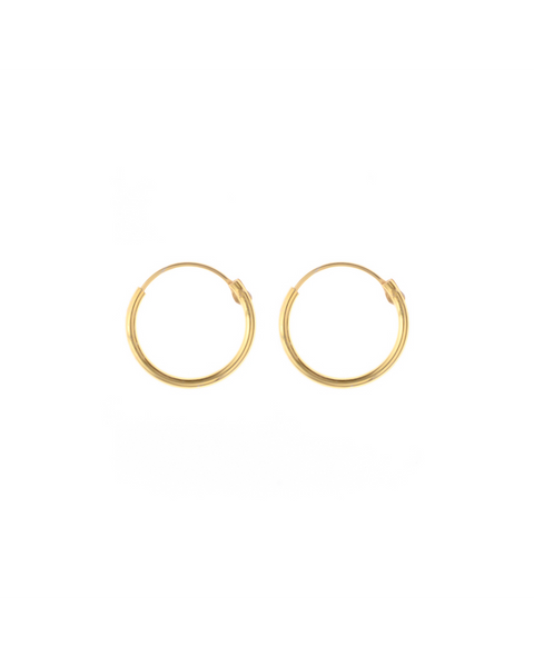Gold plated earrings - 12 mm