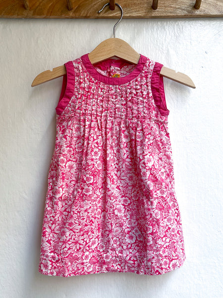 Vintage pink flower dress size 3M