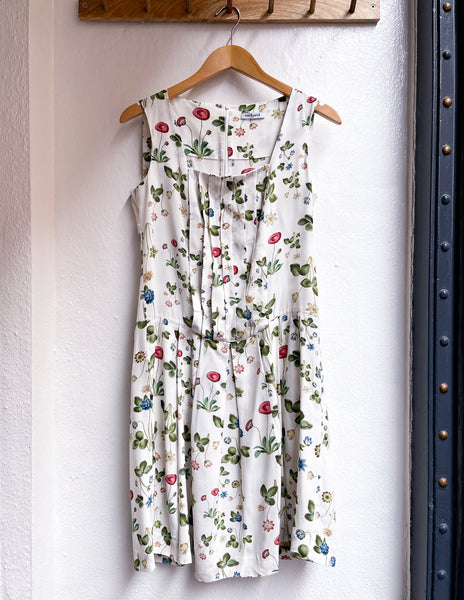 Flower silk dress size 38