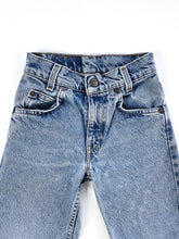 Load image into Gallery viewer, Vintage orange tab jeans size 5