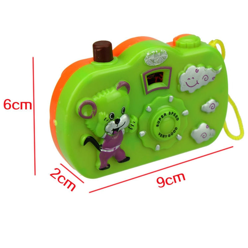1pc Light Projection Camera Kids Educational Toys for Children Baby Gifts Animals World Random Color No Need To Install Battery - Meyar
