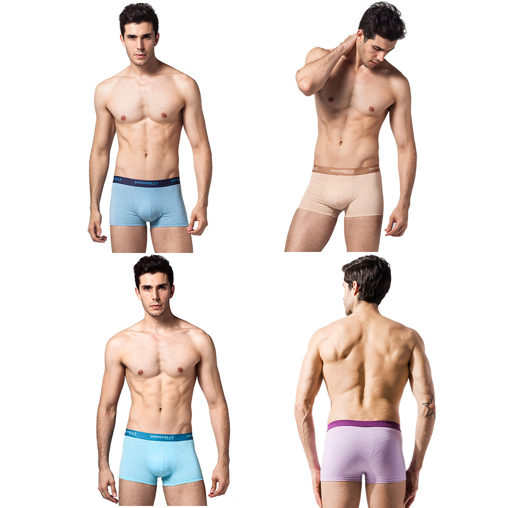 2019 Panties Mens 4Pcs\lot Underwear Organic Natural Cotton Boxers Men Sexy Boxers Ventilate Plus Size Boxers L XL XXL XXXL 4XL - Meyar