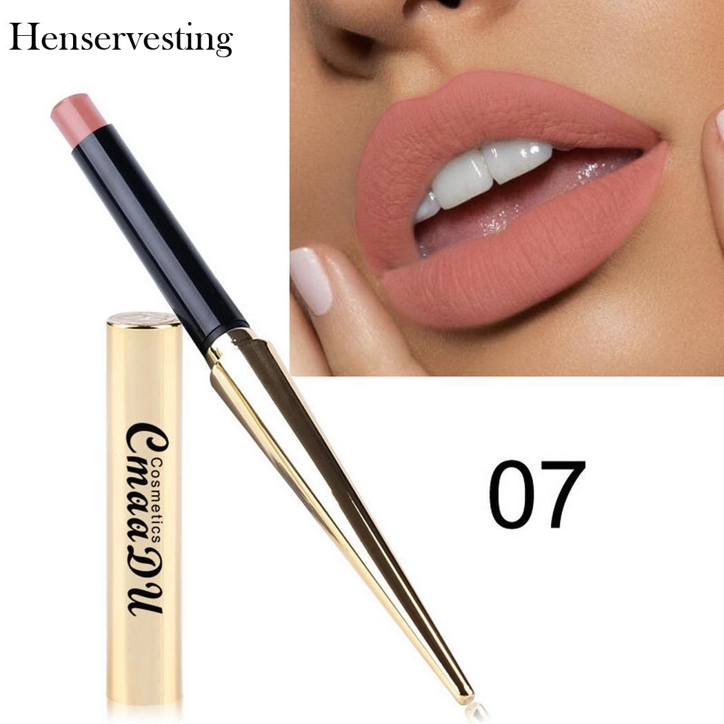 8 colors Matte Lipstick Sexy Nonstick Cup Long Lasting Waterproof Makeup Lipstick Silky Texture Durable Make Up Beauty Cosmetic - Meyar