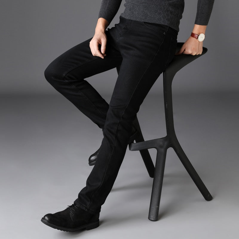 d6a434c5 ... Brands Jeans Trousers Men Clothes 2019 New Black Elasticity Skinny  Jeans Business Casual Male Denim Slim ...
