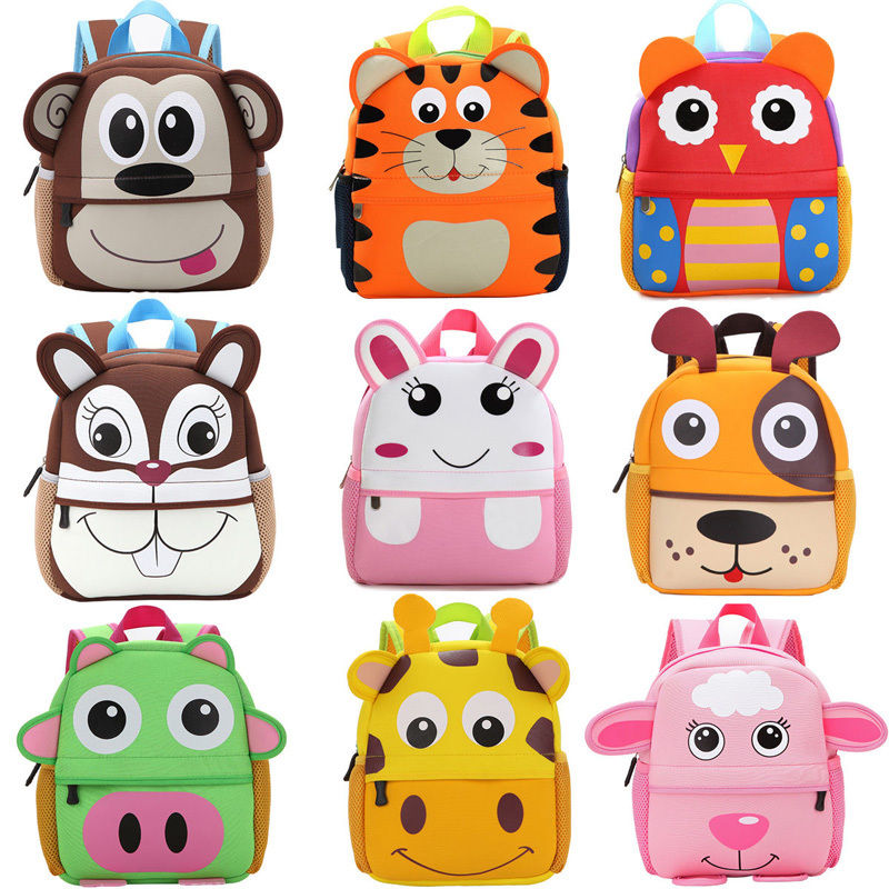 Cute Kid Toddler Schoo Bags Backpack Kindergarten Children Girls Boys Schoolbag 3D Cartoon Animal Bag - Meyar