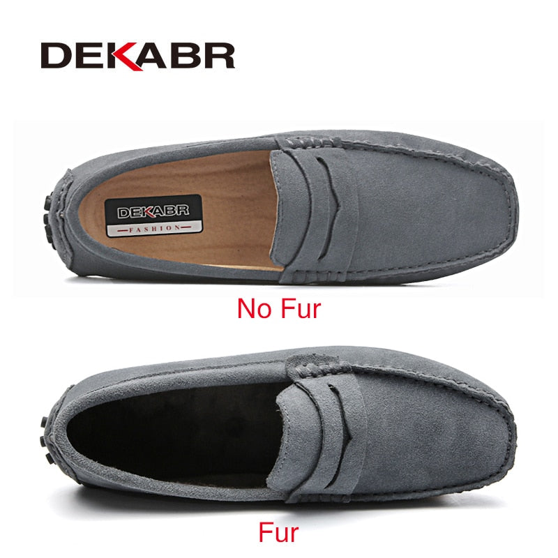 DEKABR Brand Fashion Summer Style Soft Moccasins Men Loafers High Quality Genuine Leather Shoes Men Flats Gommino Driving Shoes - Meyar