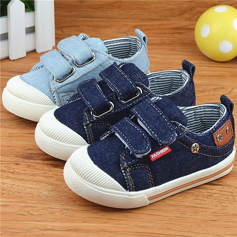 Kids Shoes for Girls Boys Sneakers Jeans Canvas Children Shoes Denim Running Sport Baby Sneakers Boys Shoes CSH227 - Meyar