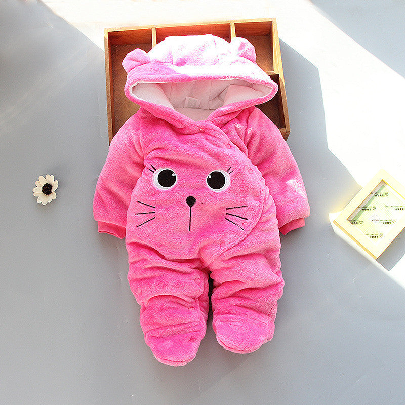 Lawadka New Born Girl Baby Footies Infant Winter Warm Newborn Overalls 3 6 9 12 Months Baby Girl Boy Clothes 2018 Brand - Meyar