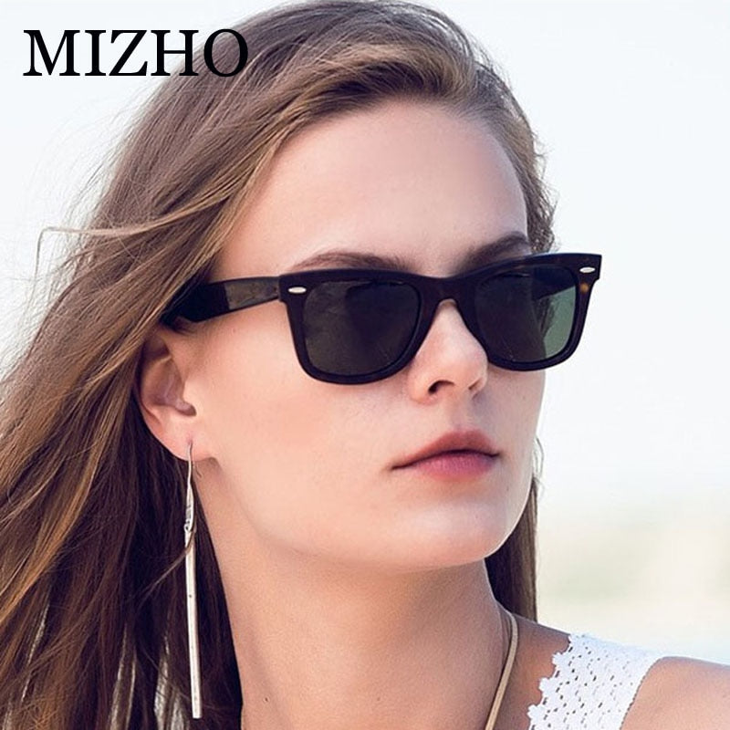 MIZHO 2019 Plastic Square Men Sunglasses Unisex Polarized Real Visual Color Traveling Classic Eyewear Celebrity Sunglass Women - Meyar