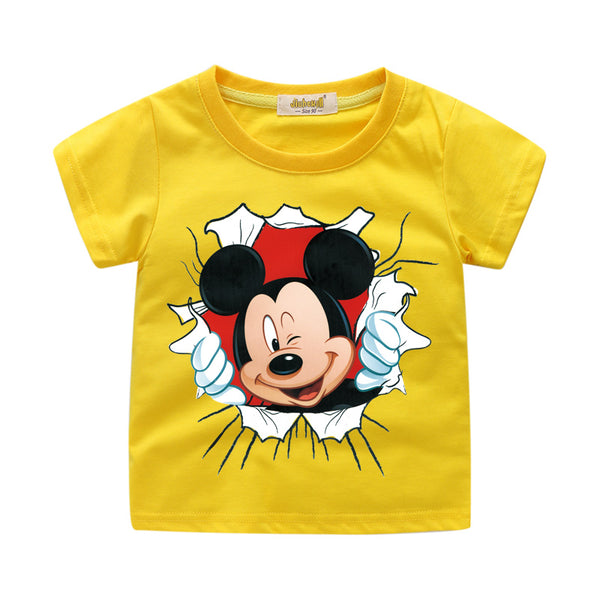 Newest Toddler Baby Kid Boys Girl T Shirts Cartoon Print Shirts Tops Outfits