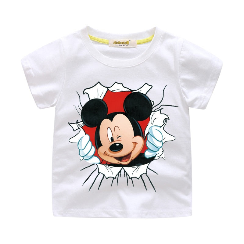 13d3f9ce ... New Arrivals Children Cartoon Mickey Print T-shirt Boy Girl 3D Funny  Tee Tops Clothes ...
