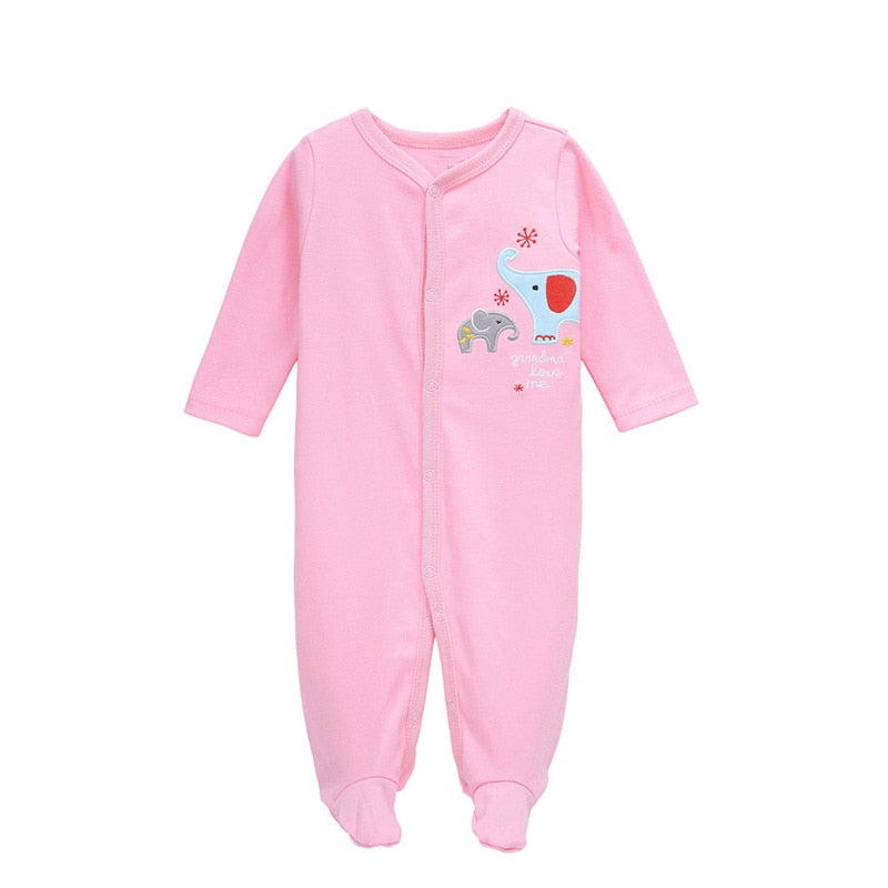 New born jumpsuit Carter Baby boy girl clothes Long sleeve Cotton 0-12 Months Infant clothing - Meyar