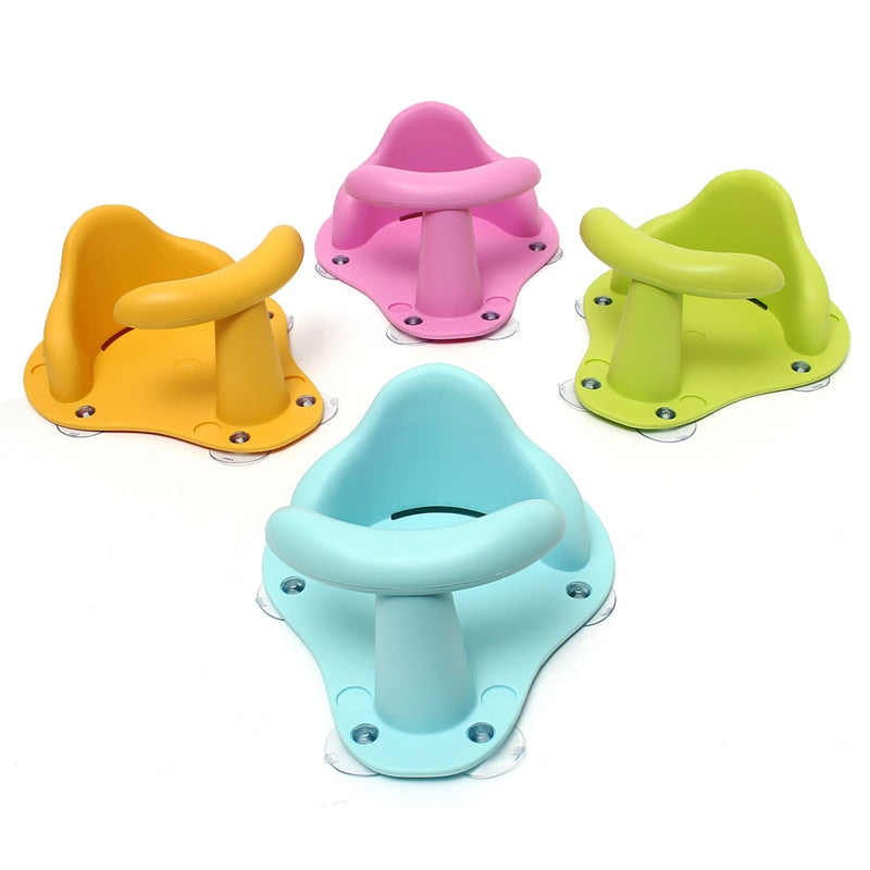 Tub Seat Baby Bathtub Pad Mat Chair Safety Security Anti Slip Baby Care Children Bathing Seat Washing Toys Four Color 37.5cm - Meyar