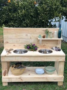 Little Hipster Kitchens Milla + Arlo Mud Kitchen Sanded Only