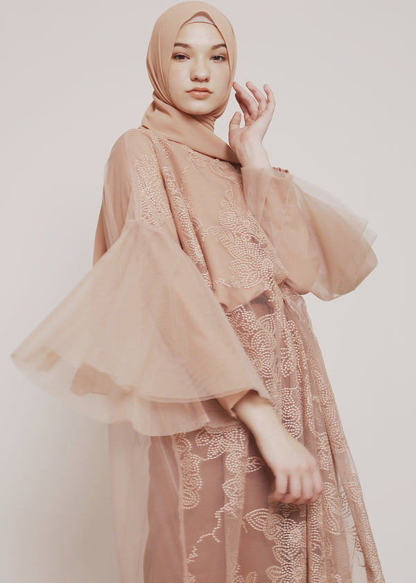 Nila Tunic Lace Tan