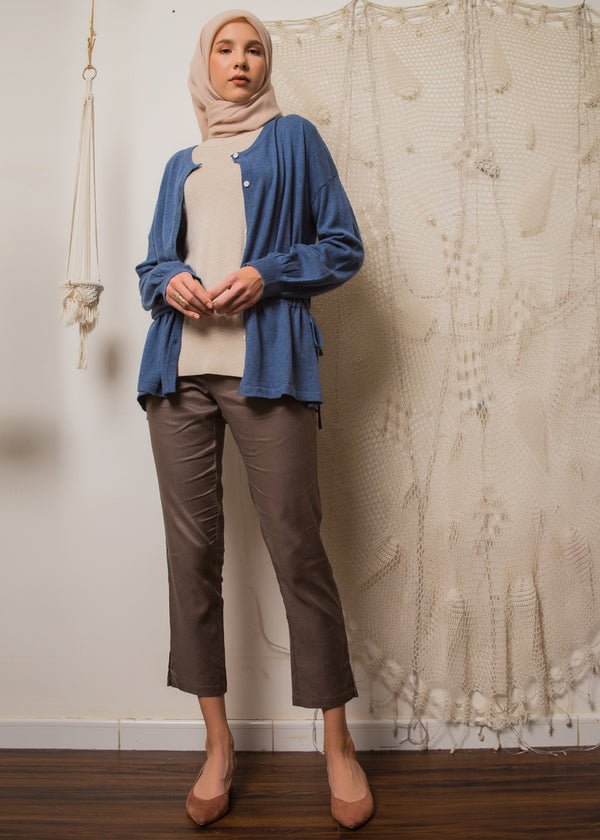Qiana Cardigan Blue