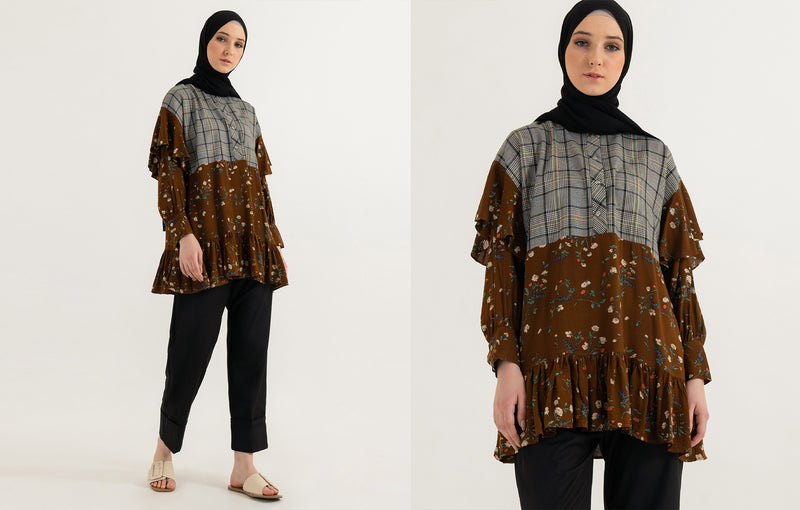 Nadila Top Brown
