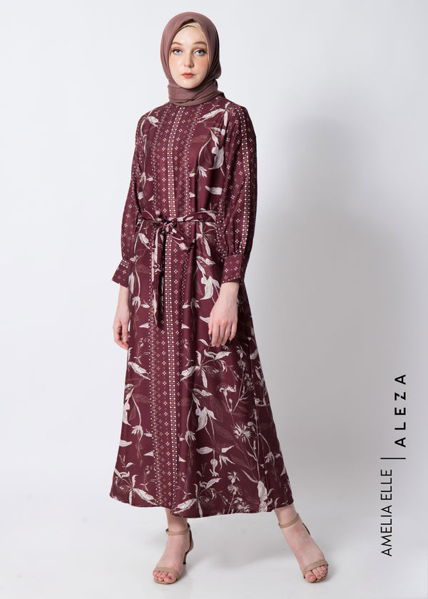 Azila Dress Maroon